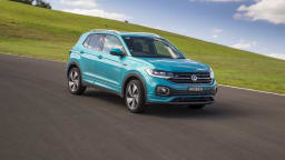 Drive Car of the Year Best Light SUV 2021 finalist Volkswagen T Cross front exterior view wide shot