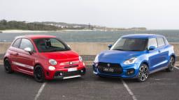 Suzuki Swift Sport v Abarth 595 Competizione head-to-head review