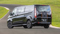 Drive 2021 Best Van finalist Ford Transit rear exterior view