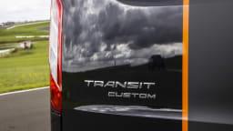 Drive 2021 Best Van finalist Ford Transit rear label close-up