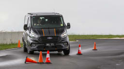 Drive 2021 Best Van finalist Ford Transit driven on road circuit