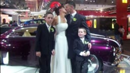 Cop this - car lovers wed at Motor Show