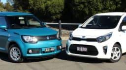 Kia Picanto v Suzuki Ignis GL comparison review