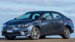 Toyota Corolla sedan.