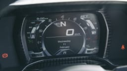 The full digital dashboard offers a hi-tech touch to the cabin.