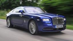 Rolls-Royce's Wraith coupe has a distinctive fastback shape.