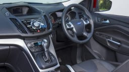 The Ford Kuga is let down by the use of Ford's previous generation interior design.