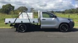 The Toyota HiLux Workmate single cab chassis.
