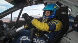 Molly Taylor in action for Subaru.