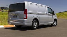 Drive Car of the Year Best Van 2021 Best Van finalist Toyota Hiace rear exterior view
