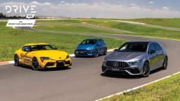 Drive Car of the Year Best Sports Car Under $100k 2021 finalists group photo