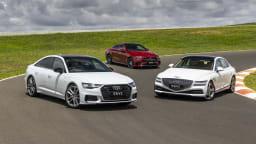 Drive Best Large Luxury Car 2021 finalists group photo