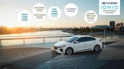 Hyundai Ioniq Autonomous Concept On Show In Los Angeles