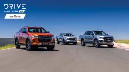 Drive Car of the Year Best Dual Cab Ute 2021 finalists group photo