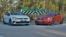 Hot Hatch Match - Peugeot 308 GTi 270 v VW Golf GTI 40 Years Comparison Test REVIEW