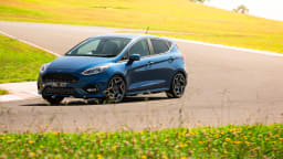 Drive Car of the Year Best Sports Car Under $100k finalist Ford Fiesta ST driven around bend