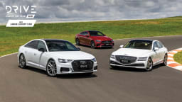 Drive Car of the Year Best Large Luxury Car 2021 finalists group photo