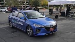 Hyundai is testing autonomous technology with its Ioniq electric car