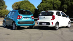Suzuki Ignis GL v Kia Picanto.