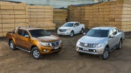 Dual cab utes including the Mitsubishi Triton, Mazda BT-50, Nissan Navara are among the commercial vehicles subject to hefty EOFY discounts.