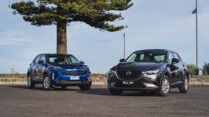 A battle of small SUVS: Mazda's ageing staple vs Toyota's new hybrid