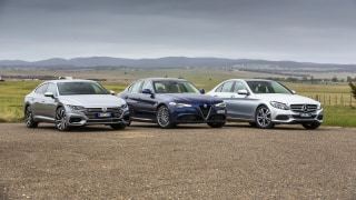 Drive 2017 Best Luxury Car Under $80k group shot