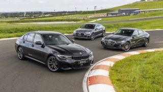 Drive Car of the Year Finalists for Best Medium Luxury Car group photo