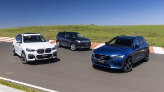 Drive Car of the Year 2021 Best Medium Luxury SUV group shot.