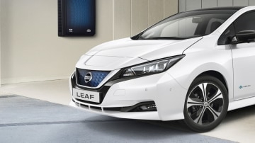 Nissan's new home energy system could be used to charge its electric Leaf small car.
