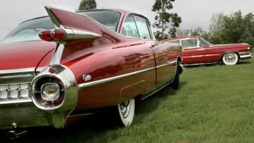 The 1959 Cadillac has fins to fly for.