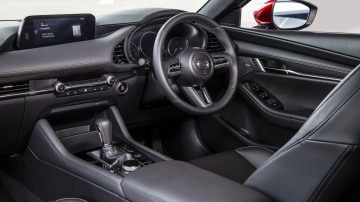 Drive Car of the Year Best Small Car of 2021 finalist Mazda 3 dashboard and steering wheel