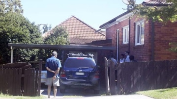 The driveway where a toddler was killed by a reversing vehicle on Friday.