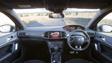 The GT has an impressive cabin characterised by a small, flat-bottomed steering wheel.