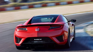 The NSX has a rear mounted electric motor wedged between a 75-degree 3.5-litre twin-turbo V6 powering a nine-speed dual-clutch automatic transmission.