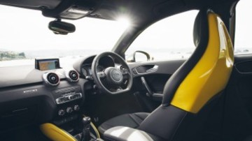 Back in black: The S1 has a race-inspired cabin.