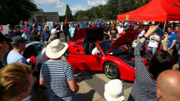 Thousands of admirers attended the AutoItalia display in Canberra