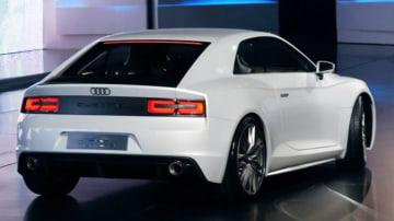 2010 Audi Quattro concept making its debut at the Paris motor show 2010.