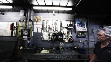 The service area of BJ's Bikes & Bits.