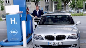 BMW last year launched a hydrogenous 7 Series sedan that overcomes a dearth of hydrogen filling stations by including a 12-cylinder petrol engine.
