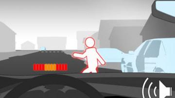 Volvo pedestrian avoidance system