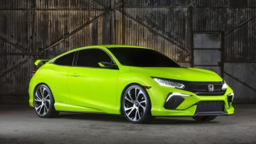 Honda says its sporty Civic Concept previews the next-generation Civic small car.