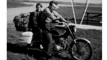 """Robert Pirsig (above with his son, Chris) wrote in Zen and the Art of Motorcycle Maintenance of the virtues of showing """"old-fashioned gumption"""" towards technology. Photo: HARPERCOLLINS"""