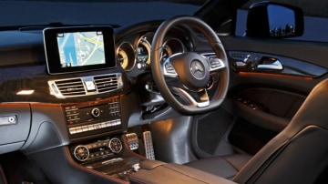 The Mercedes-Benz CLS 500's interior is all class.
