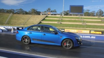 Muscle: FPV Falcon GT F hits the dragstrip.