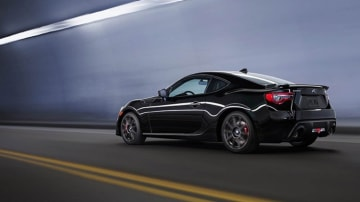 The new BRZ features revised LED taillights, a fresh spoiler and new alloy wheels.