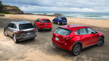 The Volkswagen Tiguan faces fresh competition from the Mazda CX-5, Ford Escape and Nissan X-Trail.