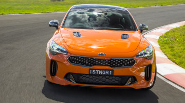 Drive Best Medium To Large Car 2021 finalist Kia Stinger GT front exterior
