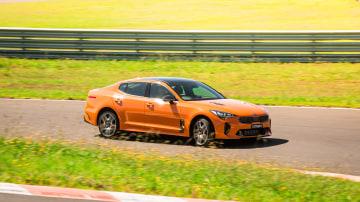 Drive Best Medium To Large Car 2021 finalist Kia Stinger GT on road circuit