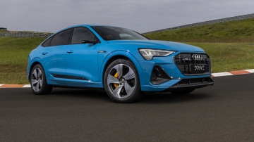 Drive Car of the Year Best Electric Vehicle 2021 finalist Audi e-Tron front exterior view
