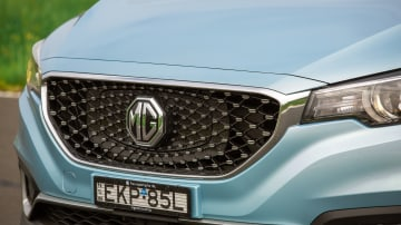 Drive Car of the Year Best Electric Vehicle 2021 finalist MG ZS EV front grille close-up